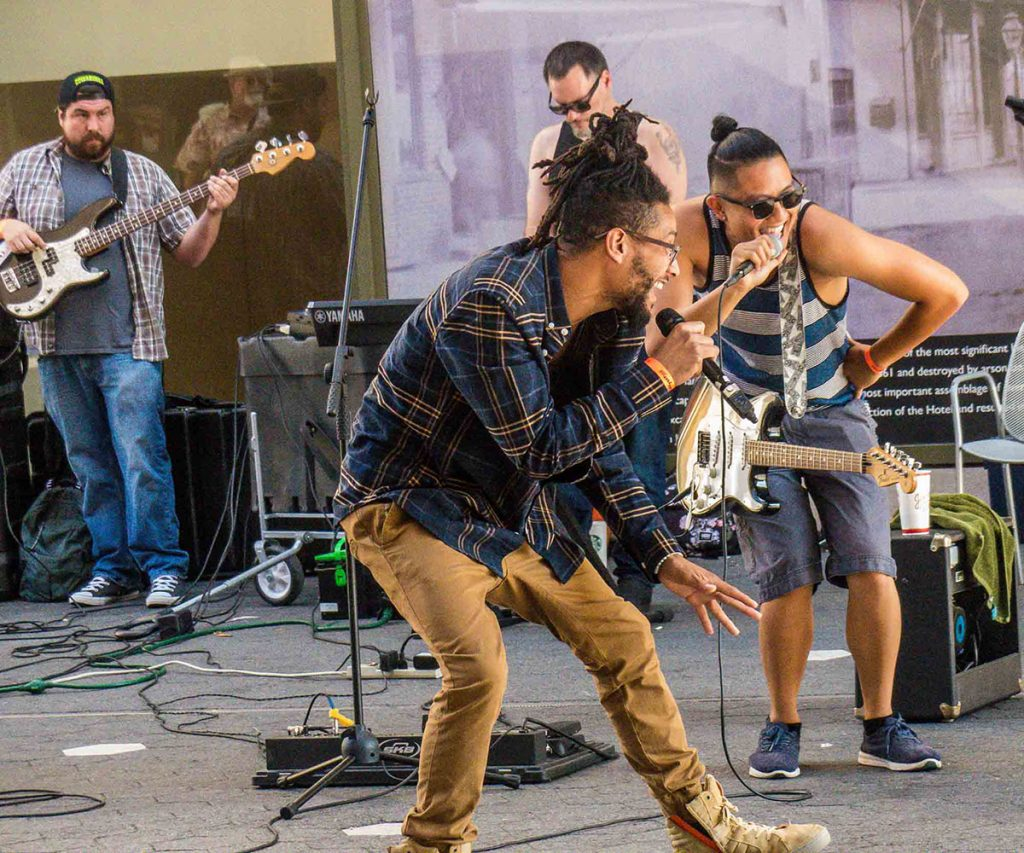 Barely Funktional was out on the fest grounds as one of this year's Buskers. Photo by MK Wagner