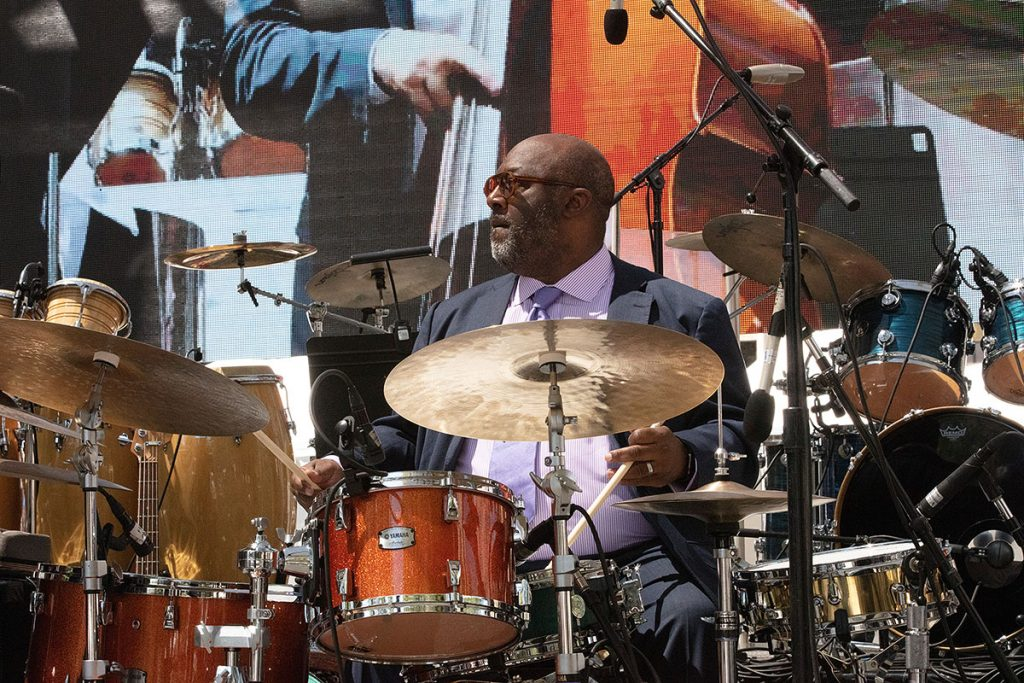 Drummer Carl Allen assembled a special ensemble to ensemble to commemorate the 100th birthday year of his legendary mentor, Art Blakey. Photo by Robert Birnbach