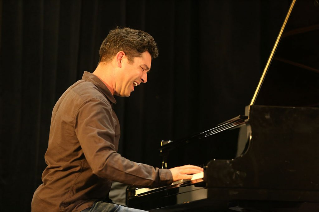Bay Area pianist Dahveed Behroozi brought his A-game to the Silicon Valley Stage. Photo by Andy Nozaka
