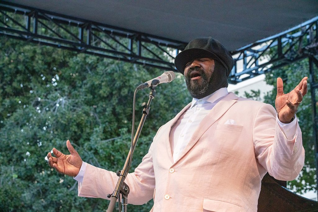 Gregory Porter crooned his way into fest-goers hearts during his Main Stage performance. Photo by Robert Birnbach
