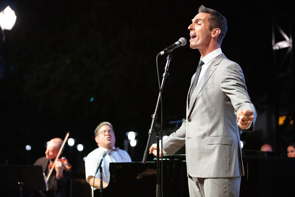 NPR host Ari Shapiro joined Pink Martini for an extra special vocal performance. Photo by Robert Birnbach